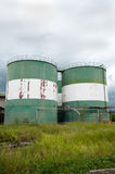 Picture of  abandon storage tanks Royalty Free Stock Images