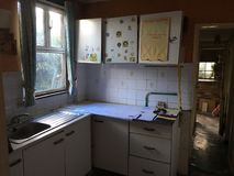 Picture of Abandoned Haunted Kitchen stock images