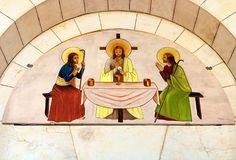 Picture above the door of Latrun Trappist Monastery Royalty Free Stock Images