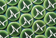 Adrenaline tokens pattern. Picture of adrenaline tokens taken from Level 7 Omega Protocol Board Game stock image