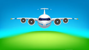 Picture of airplane Royalty Free Stock Images