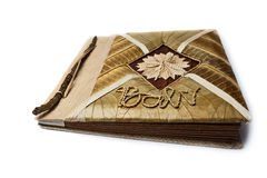 Picture album  2. Picture album made completely from a tree. An inscription on a cover Bali (Indian island Royalty Free Stock Photo