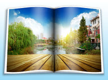Picture album on the Park Stock Images