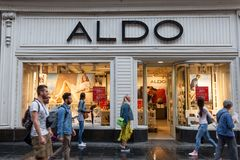 Logo of the main Aldo store in Belgrade. royalty free stock photo