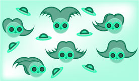Picture of alien face Royalty Free Stock Image