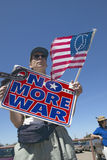 Picture of anti-Bush political rally in Tucson,. AZ with sign reading No More War Stock Photo
