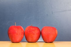 Three wonderful apples Stock Photos