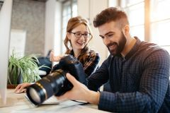 Picture of architects working together in office royalty free stock photo