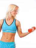 Picture of athletic blonde Royalty Free Stock Photography