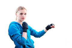 Picture of attractive blond teenage girl in Stock Photography