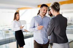 Picture of business colleagues talking in office Stock Photography