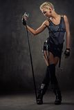 Picture of an attractive steam punk girl. Royalty Free Stock Photography