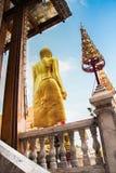 Buddha statue at Wat Lardprao temple. Picture of the back of Buddha statue at Wat Lardprao temple Stock Photos