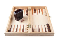 Backgammon. Picture of a backgammon game Royalty Free Stock Images