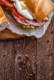 Picture of baguette with sausage Royalty Free Stock Images