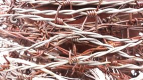 Barbwire texture Royalty Free Stock Images