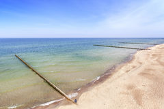 Picture of a beach, Baltic Sea coast in Poland. Royalty Free Stock Images