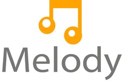 Melody sound logo and template. This is a picture of a beam illustration in melody and sound Stock Images