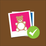 Picture bear toy approve Royalty Free Stock Photos