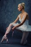 Picture of a beautiful ballet dancer. Royalty Free Stock Image