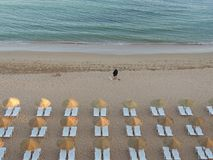 A beautiful beach in Albufeira - Algarve. A picture of a beautiful beach in Albufeira, Algarve, Portugal royalty free stock photography