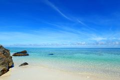 Beautiful beach in Okinawa. Picture of a beautiful beach in Okinawa royalty free stock images