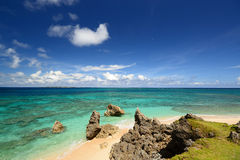 Picture of a beautiful beach in Okinawa Royalty Free Stock Image