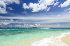 Picture of a beautiful beach in Okinawa Royalty Free Stock Photos