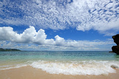 Picture of a beautiful beach in Okinawa Royalty Free Stock Photo