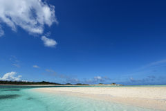 Picture of a beautiful beach in Okinawa Stock Images