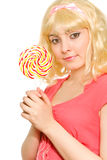 Picture of beautiful blond woman Royalty Free Stock Images