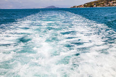 Blue sea waves. Picture of beautiful blue sea waves in Croatia, Europe Royalty Free Stock Photo