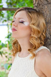 Picture of beautiful bride with creative make up Royalty Free Stock Photos