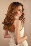 Picture of beautiful bride wedding dress Stock Images
