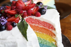 The picture of beautiful colourful cake like a rainbow Stock Photos