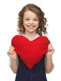 Girl with big heart Stock Photos