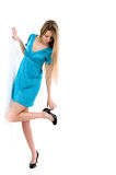 Picture of beautiful girl with black shoes Royalty Free Stock Photo
