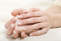Picture of beautiful nails and perfect manicure Stock Photography