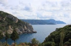 Paleokastritsa beach on Corfu, Greece. A picture of beautiful Paleokastritsa beach on Corfu Island, Greece Stock Photo