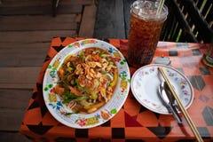 Somtum food image stock photos