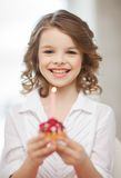 Girl with cupcake Royalty Free Stock Image