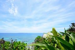 Beautiful sky and sea in Okinawa stock photo