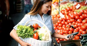 Picture of woman at marketplace buying fruits. Picture of beautiful woman at marketplace buying fruits royalty free stock photos