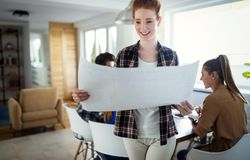 Picture of beautiful young woman in business stock photography