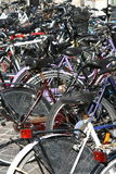 Picture of bicycles parking lot Royalty Free Stock Photos