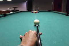 Billiard game picture stock images