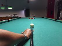 Billiard game picture stock image