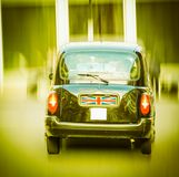 London Cab taxi car vintage retro. A picture of Black Cab London taxi car vintage retro royalty free stock photos
