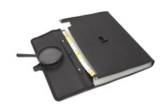 Picture of black portfolio case Stock Images