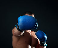 Picture of blue gloves stock photography